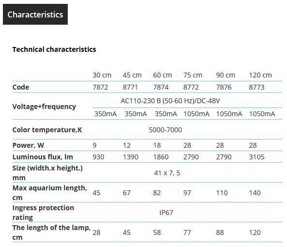 caratteristiche aqualighter 1